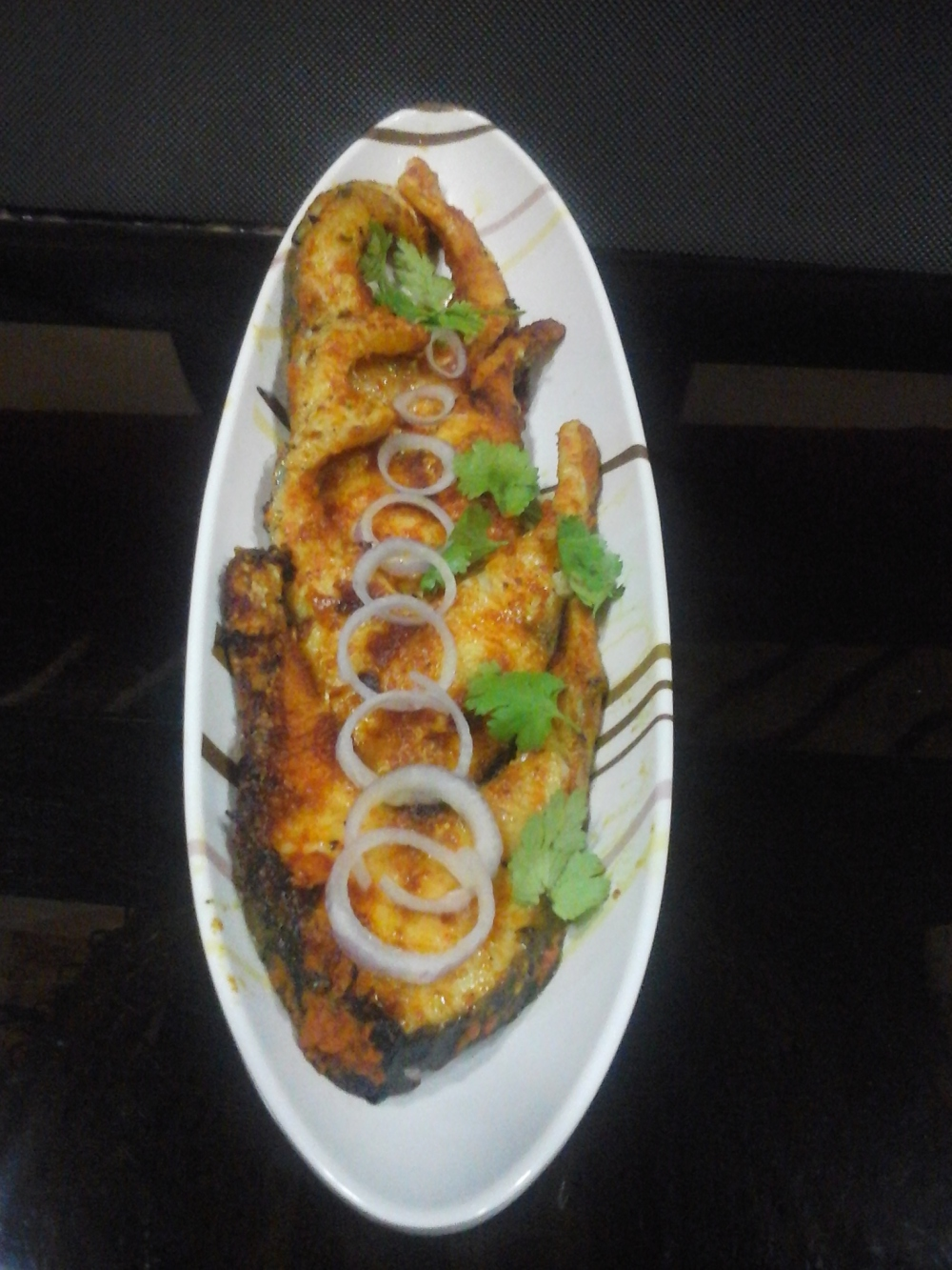 Spicy and tangy fish fry....