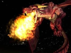 fire breathing dragon...