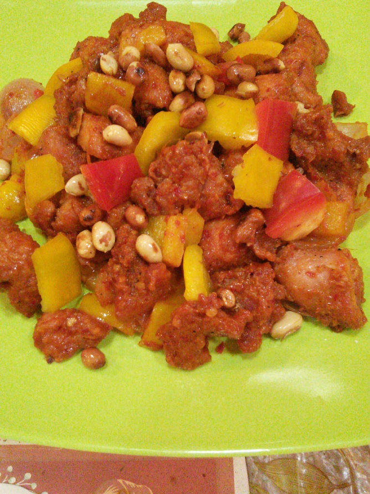Kung Pao chicken dry....