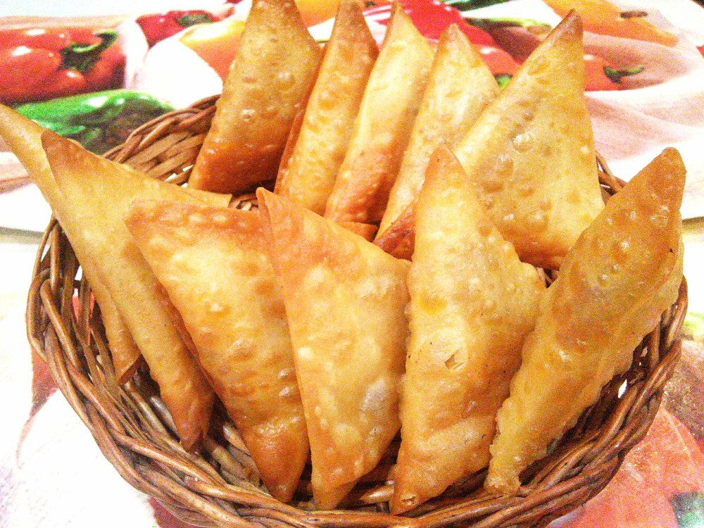 Chicken and Corn Samosa
