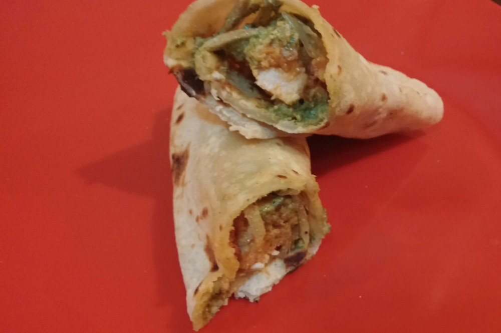 Juicy Chicken kathi rolls