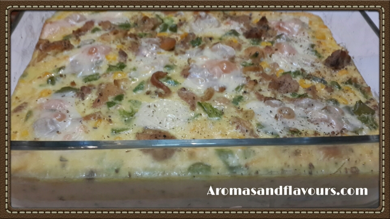 Chicken and corn casserole with mac and cheese