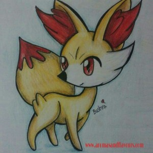 Fennekin- sketched by my daughter