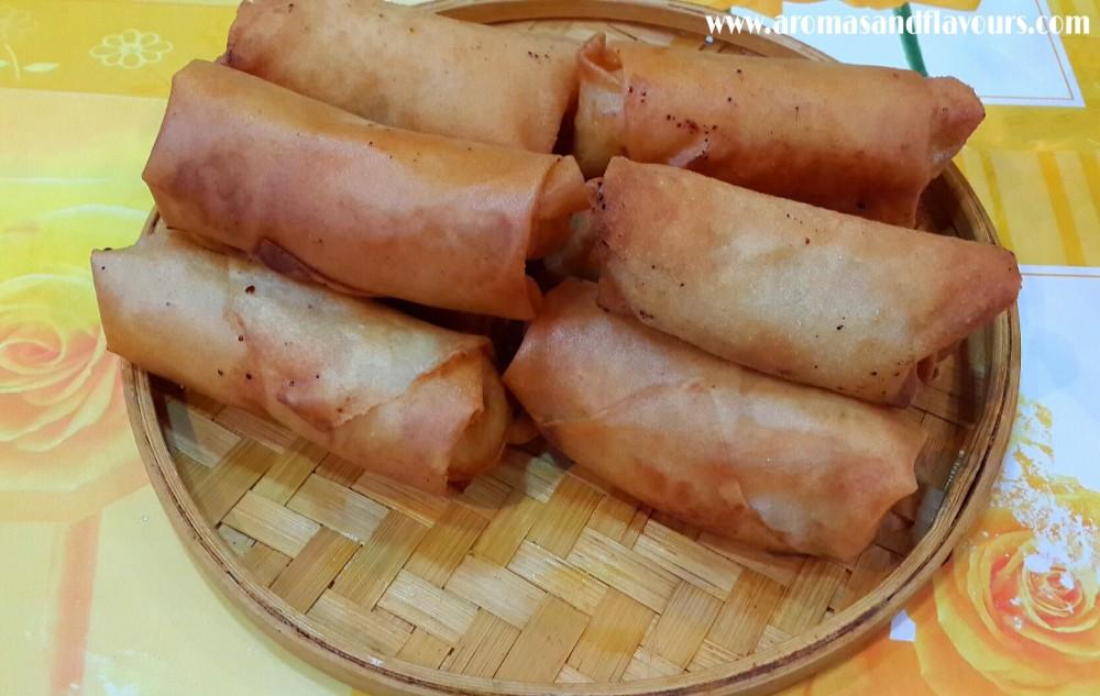 Crispy sweet ..Banana spring rolls...Turon