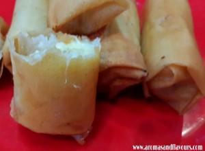 Crispy sweet banana spring rolls
