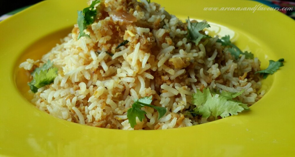 Keema fried rice