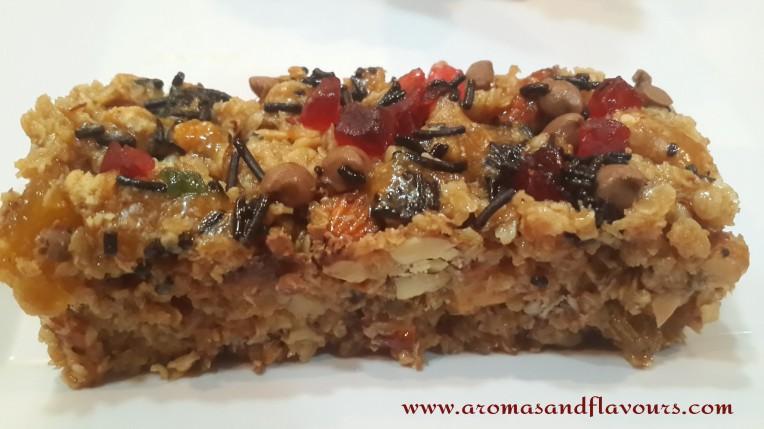 Chewy healthy granola bar