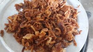 crisp fried onions