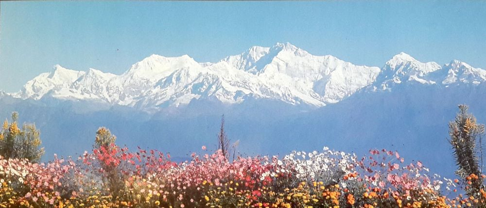 Kangchenjunga(third highest mountain in the world) from Darjeeling