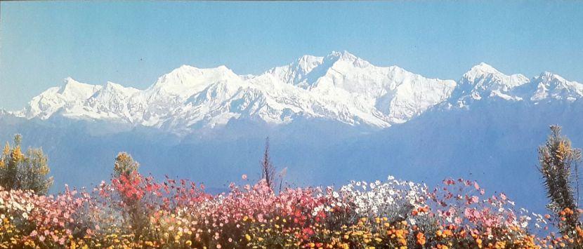 Kangchenjunga(third highest mountain in the world) from Darjeeling